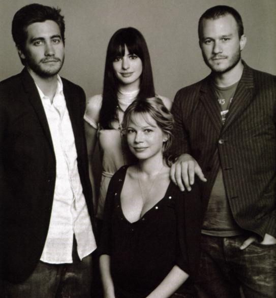 Jake Gyllenhaal, Anne Hathaway, Heath Ledger and Michelle Williams at the Toronto Film Festival for Brokeback Mountain, September 10th, 2005