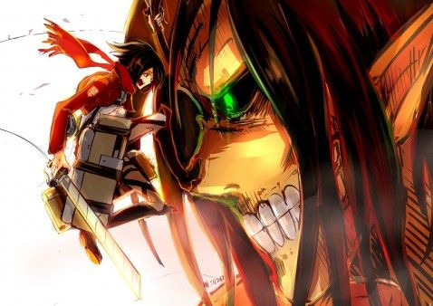 Attack on titan wallpaper hd mikasa and eren google search places to visit pinterest - Eren and mikasa wallpaper ...