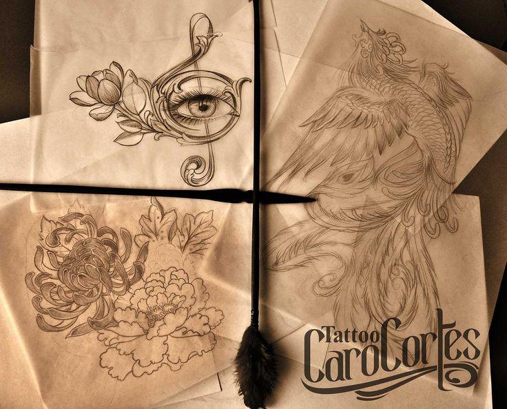 Caro cortes Colombian tattoo artist. http://carocortes.tumblr.com/ http://www.carocortes.com/ #sketch #draw #oriental #female #artist