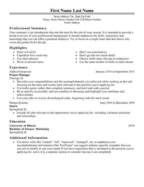 Smart resume wizard