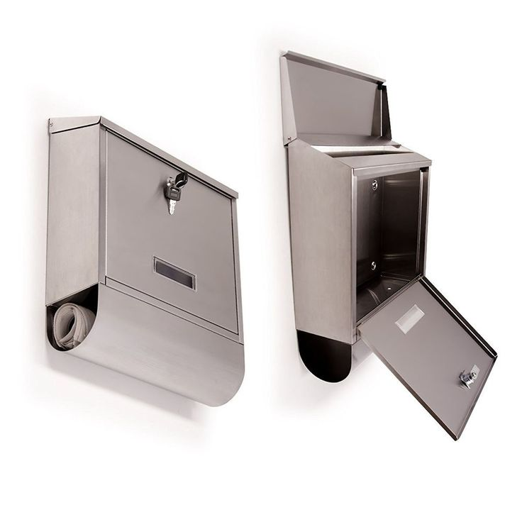 Lockable Steel Wall Mounted Postbox Letter Box Mailbox With Newspaper Holder #Arboria