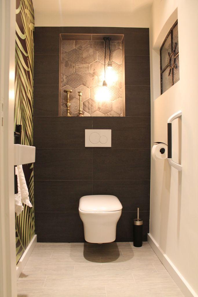 327 beste afbeeldingen over huis op pinterest toiletten tuin en grijs - Behang voor toiletten ...