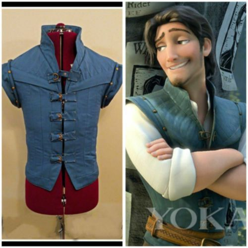 Enchanted Tangled Prince Flynn Rider Vest jacket uniform cosplay