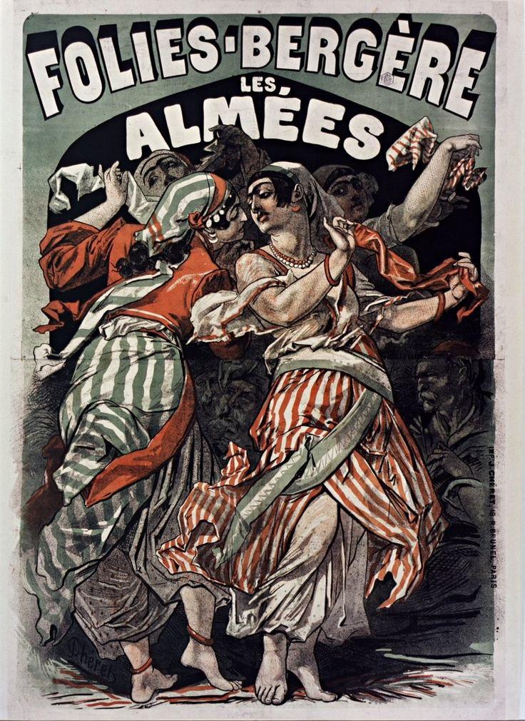 1874, Jules Chéret, Les Almées, Folies-Bergère, Paris (Bibliothèque nationale de France) [Jules Cheret, Folies Bergere, Жюль Шере, Фоли-Бержер]