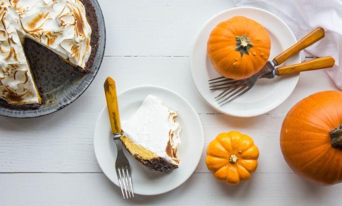 Pumpkin Meringue Pie with Brown Butter GingersnapCrust Recipe - Relish