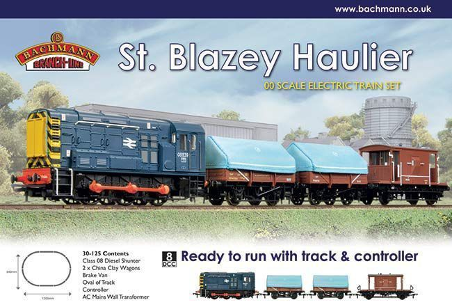 #Bachmann oo #30-125 - st #blazey haulier train set - with br blue 08 shunter,  View more on the LINK: 	http://www.zeppy.io/product/gb/2/401174057961/
