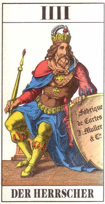 Tarot Wiki: 1JJ- IIII - Der Herrscher