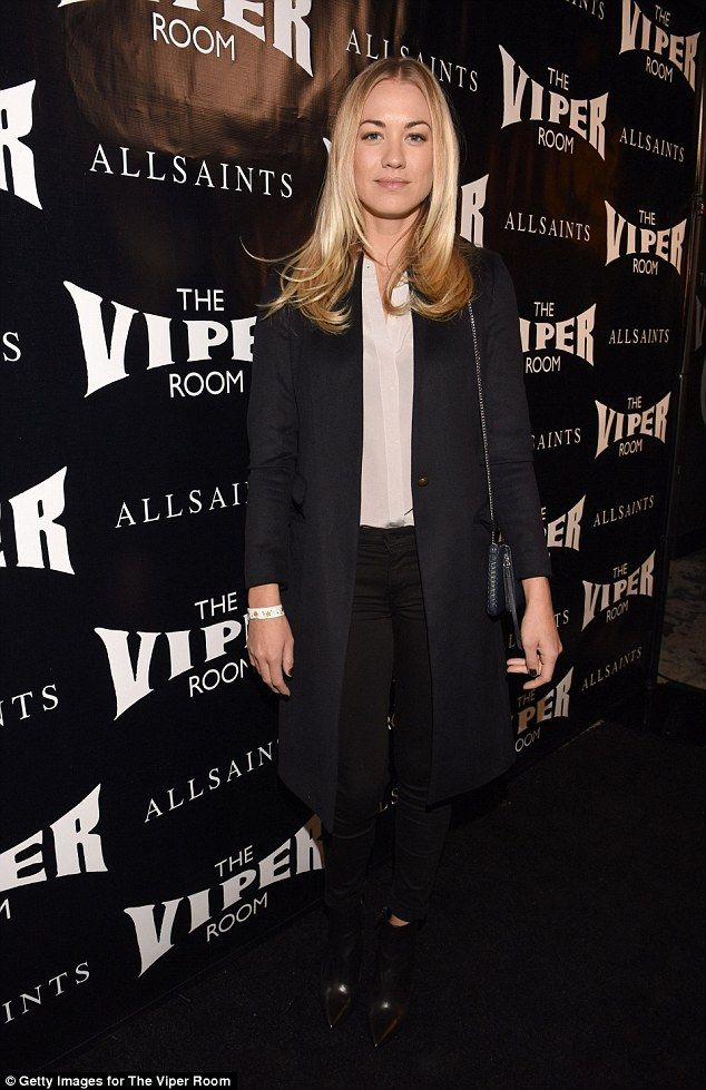 Monochrome magic! Chuck actress Yvonne Strahovski opted for a chic monochromatic look...