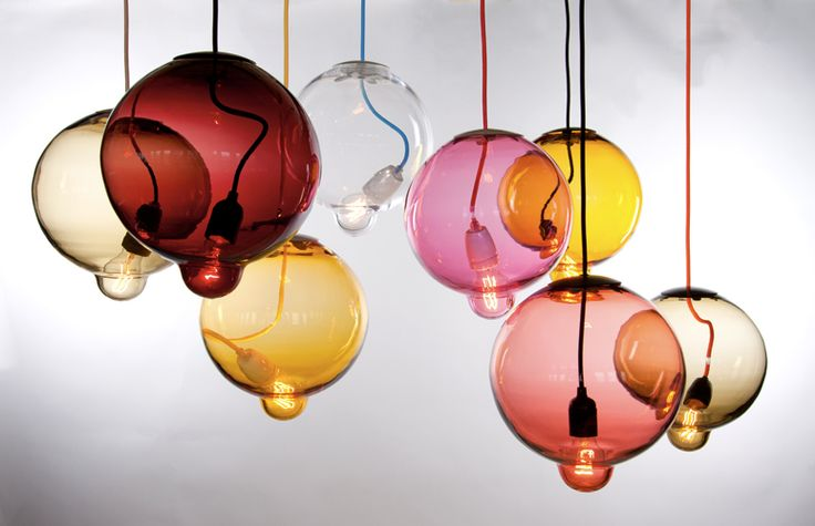 love coloured glass lights os much: melt down lamps by Lindstén Form Studio