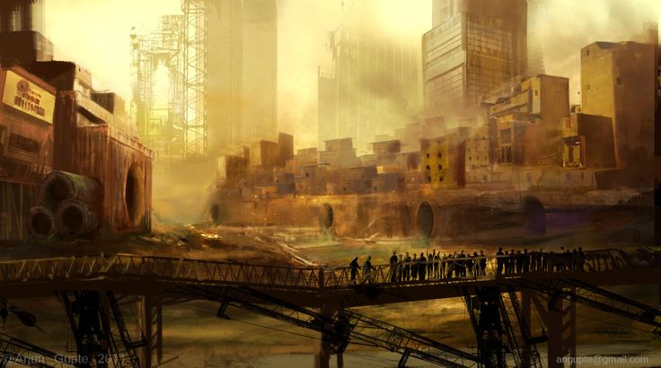 Concept art for a documentary on future cities