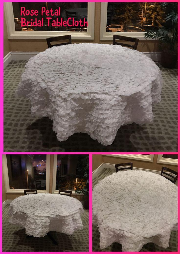 White Rose Petal Tablecloth Handmade Diy Tablecloth Table Cloth