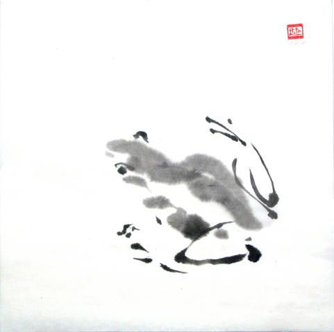 The aim of Sumi-e or of any art, is not to bring out the detailed interpretation, but the spirit of the subject.  www.lilithohan.com