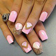 Шикарный маникюр с розовым лаком (36 фото) - Дизайн ногтей