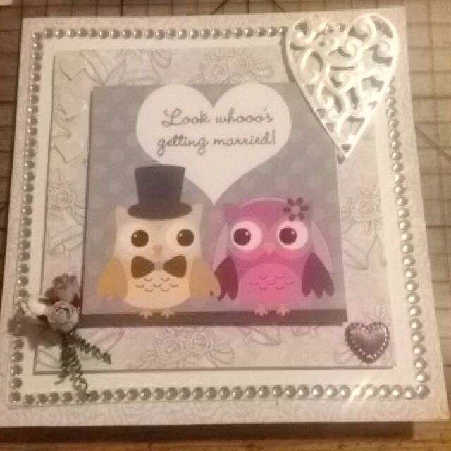 Bryllupskort ugler