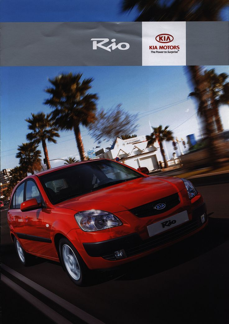 https://flic.kr/p/FHTZ3Z | KIA Rio; 2005_1 | front cover car brochure by worldtravellib World Travel library