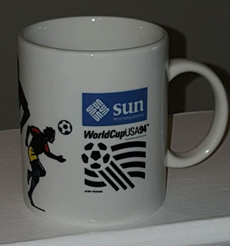 Sun Microsystems 1994 FIFA World Cup USA Coffee Tea Mug Futbol Football Soccer   | eBay