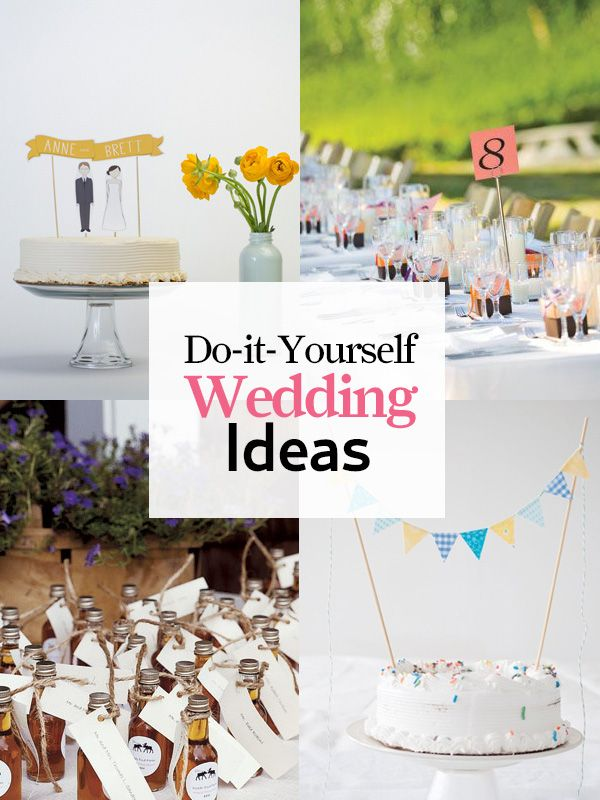 Real weddings, handmade Etsy finds, easy DIY centerpieces, reception ideas, and more! http://www.countryliving.com/crafts/projects/diy-wedding-ideas