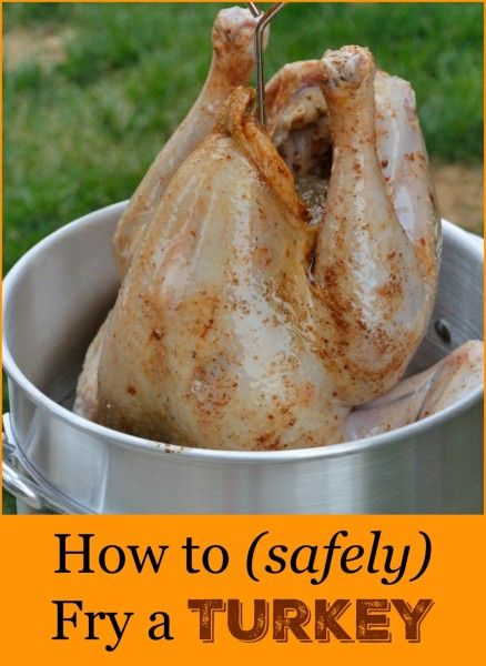 How to Safely Fry a Turkey- step-by-step instructions on how to SAFELY fry a turkey at home for Thanksgiving or Christmas, plus turkey injection and rub recipes!