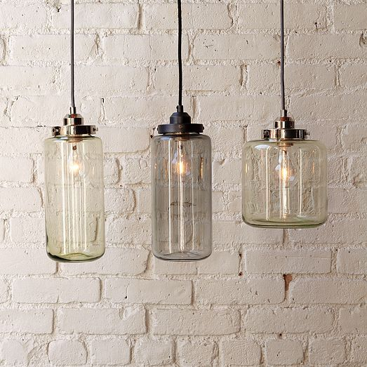 Glass Jar Pendants   #eastoakdecor