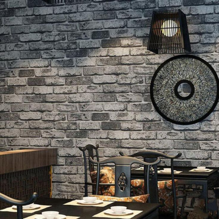 47.26$  Watch here - http://alihrs.shopchina.info/go.php?t=32753677388 - 3D PVC Grey Brick Stone Wall Paper Chinese Rustic Vintage  Embossed Washable WallPaper Livingroom Backdrop WallCovering 47.26$ #SHOPPING