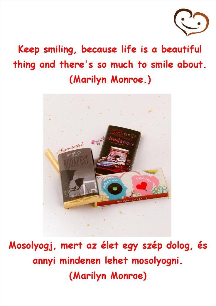 15. day - Handmade chocolate quotation #smilebrand #smilechocolate #mosolycsoki #quotations #smile #happiness #boldogság #csoki #csokoládé #quotes #handmade #fifteenthday #marilynmonroe #marilyn #monroe @marilynmonroe