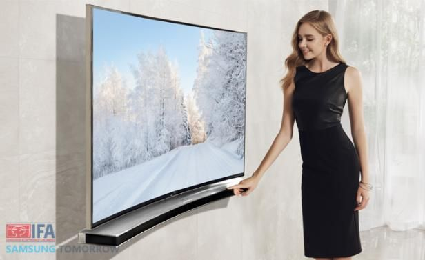 Best Luxury Electronics, Gadgets & News | Home Audio, Video, Reviews Page 4 Curved TV and now curved soundbar.