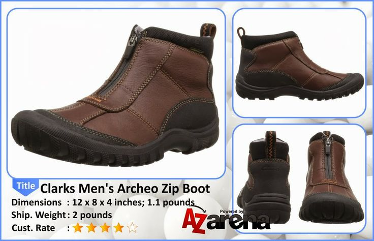 Best Deal of Clarks Men's Archeo Zip Boot - Brown Leather | The Clarks Archeo Zip men's boots are low boots that are waterproof as well (GORE-TEX®). Synthetic and cow full grain were used to make the upper of these men's boots. A zipper has been provided to ensure easy wear and removal of the boot. Synthetic lining and sockliner are present to ensure that the foot gets sufficient interior comfort.