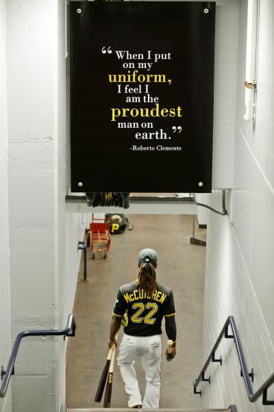 Pittsburgh Pirates' Andrew McCutchen (22) walks to the field. (Gene J. Puskar/AP)