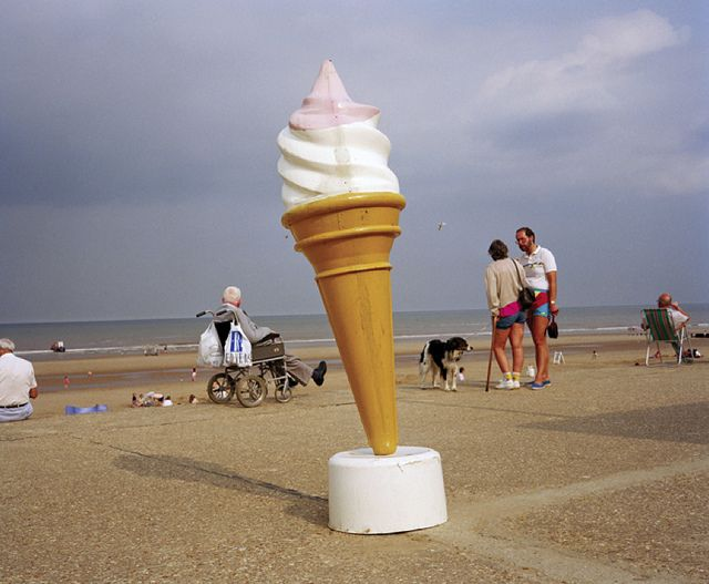 Martin Parr. GB. England. Mablethorpe. 1992. from Life's A Beach. Aperture, 2013. by drollgirl, via Flickr