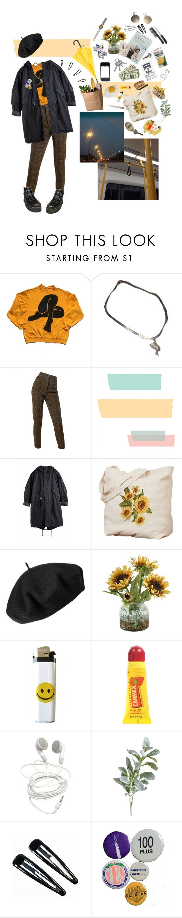 """Untitled #82"" by iwanttodieplshelp ❤ liked on Polyvore featuring Emanuel Ungaro, Betmar, Home Decorators Collection, Carmex, Pier 1 Imports, BOBBY, Clips and Old Navy"