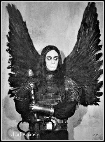 Max Schreck as black angel. And looking terribly Iggy Poppy.