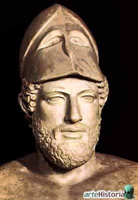 Pericles fue un importante e influyente político y orador ateniense en los momentos de la edad de oro de la ciudad.