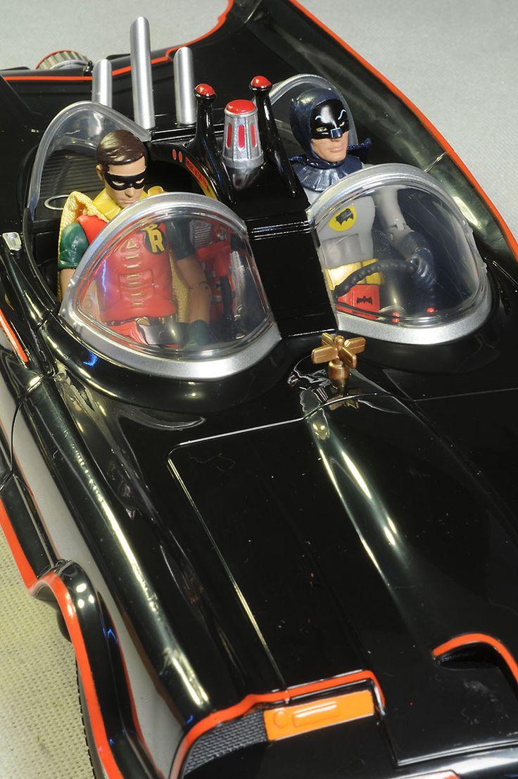 1966 Batmobile action figure car by Mattel