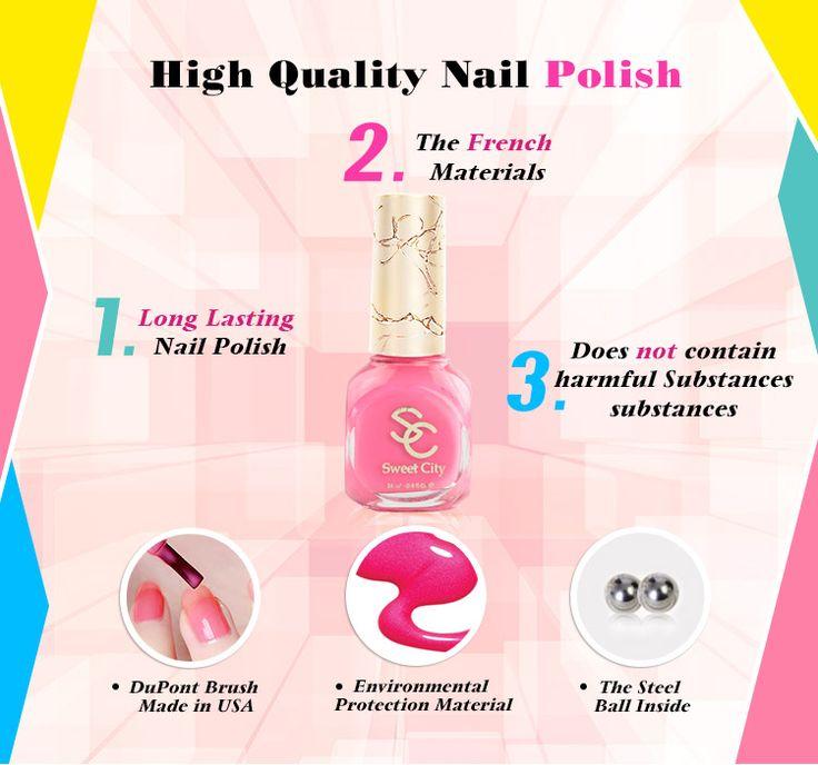 SweetCity Brand High Quality Quick Dry Nail Polish HotPink Nail Art Tools Bottle 14ml|63370014-aa40-4069-8c51-f3b8267c2e4d|Nail Polish