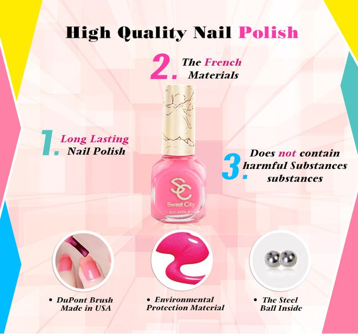 SweetCity Brand High Quality Quick Dry Nail Polish HotPink Nail Art Tools Bottle 14ml|63370014-aa40-4069-8c51-f3b8267c2e4d|Nail Polish