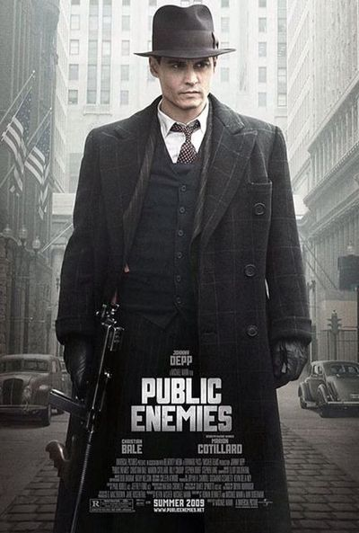 Public Enemies starring Johnny Depp, who portrayed John Dillinger. Interesting but obviously violent film.