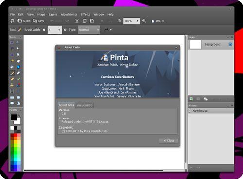 Installing Pinta on Ubuntu.