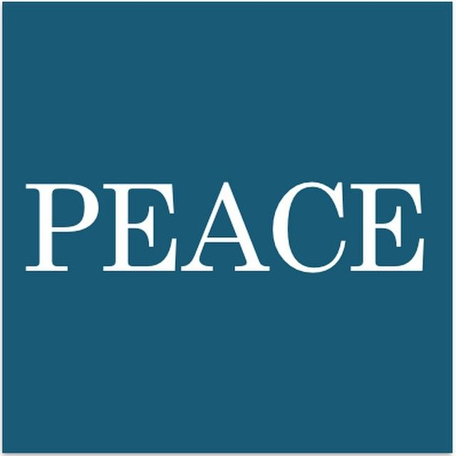 I declare world peace. #IDWP #peace #square #blue #poster #white