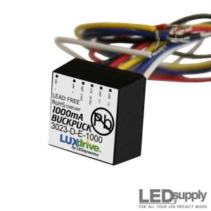 Wired BuckPuck - 1000mA Constant Current LED Driver with Dimming