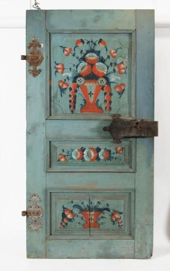 DOOR, Swedish, folk art, early 19th century -- DÖRR, allmoge, troligen…