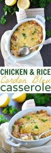 Chicken and Rice Cordon Bleu Casserole - The Seasoned Mom