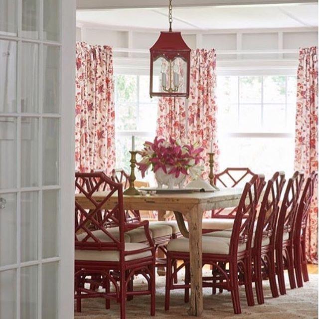 oomph hobe sound lantern.  dining room.  red.