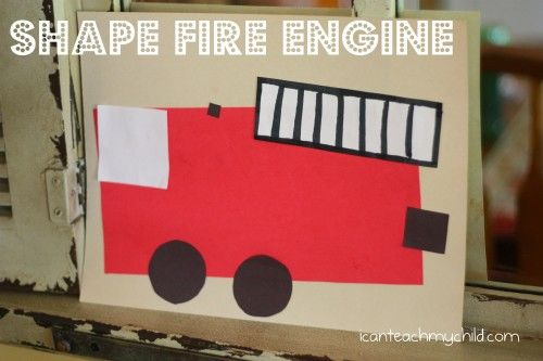 Shape Fire Engine great follow up to out visit to the fire station!