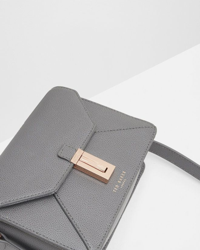 Leather cross body bag - Gunmetal | Bags | Ted Baker