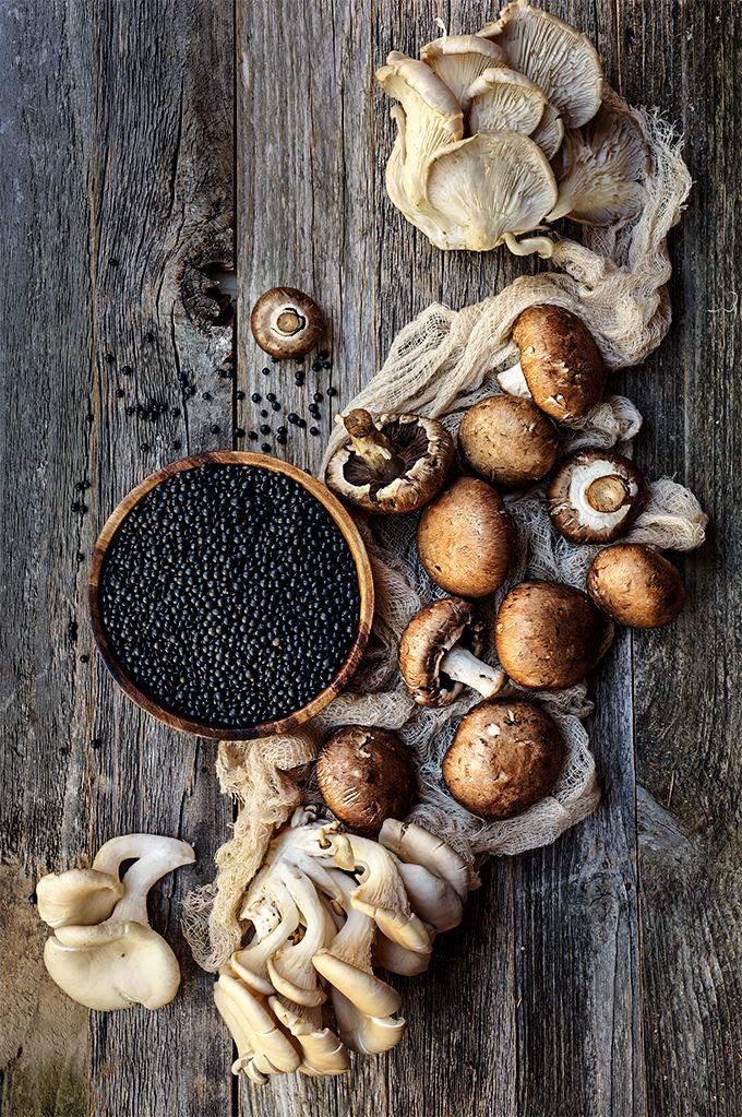 Mushrooms and black lentils   www.viktoriastable.com