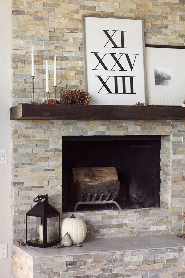 The evolution of our living room fireplace  more fall decorating  For the Home  Living room