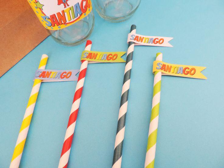 """Banderines que combinan perfecto con tu fiesta de """"Superhéroes"""""""