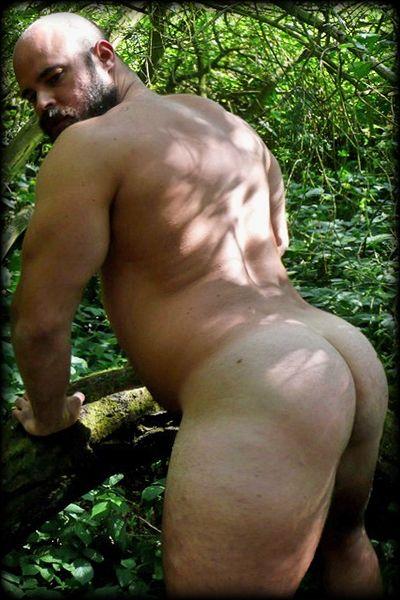 Chubby men butt