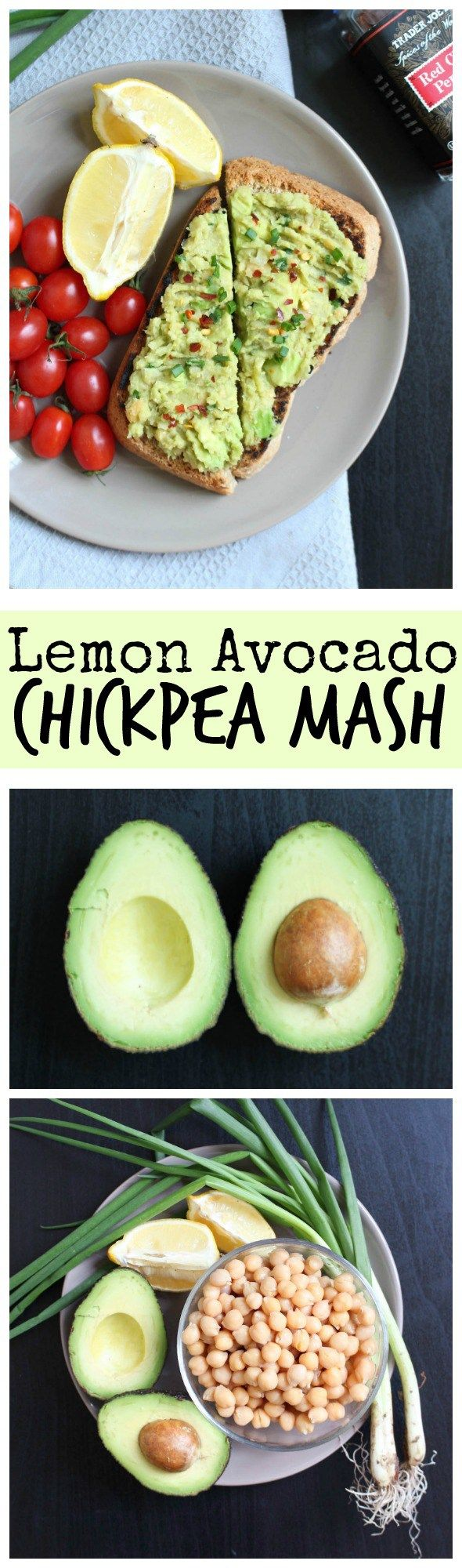 THE SIMPLEST Lemon Avocado Chickpea Mash! This simple spread is addicting! So zesty, creamy and savory. I love it on homemade toast or as a sandwich spread. Vegan, gluten free and only 5 INGREDIENTS!!