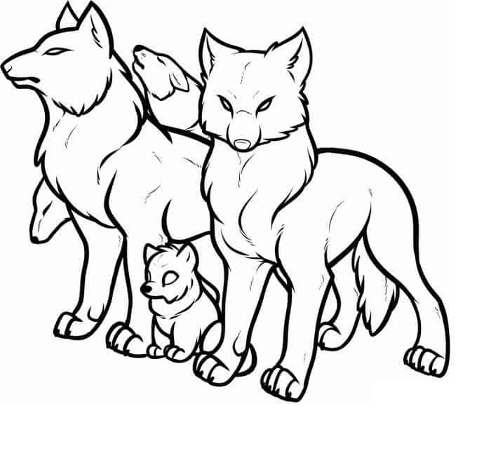 Anime Wolves In Love Coloring Pages From Wolves Coloring Page